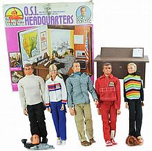 1973 Kenner O.S.I Headquarters & Five Doll Lot