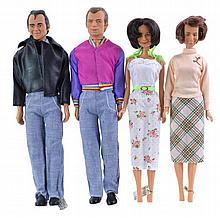 4 Pc. 1977 Mego Laverne & Shirley Doll Lot