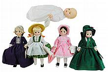 5 Pc. Madame Alexander Doll Lot #5