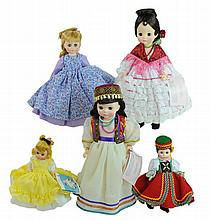 5 Pc. Madame Alexander Doll Lot #3