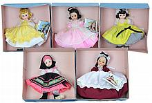 5 Pc. Madame Alexander Doll Lot #8