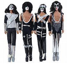 4 Pc. 1978 Mego KISS Doll Lot