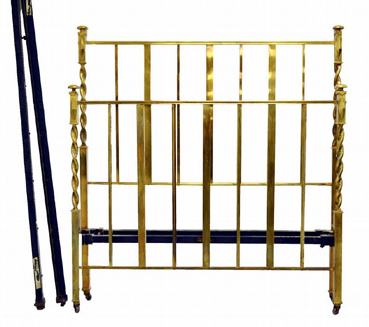 Circa 1920's Hoskins brass & iron bed.