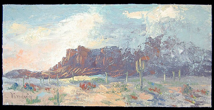 Storm Over Superstitions by Leona Lindvig