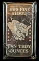 10 Troy Oz. .999 Fine Silver Bullion