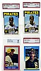 (4) Graded Barry Bonds Baseball Cards