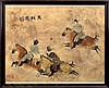 Signed Japanese Polo Horse Woodblock Print