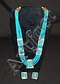 Sterling Silver & Turquoise Earrings & Necklace
