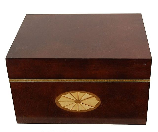 Inlaid Wooden CD Storage Box