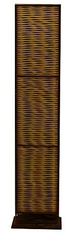 Rattan floor lamp, 39.25