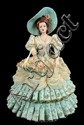 Heirloom Porcelain Figurine of a Southern Belle