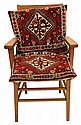 Oak Arm Chair with Donkey-Bag Carpet Cushions