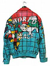Jeff Hamilton Custom WORLD PEACE Leather Jacket
