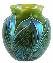 Orient & Flume Art Glass Vase - Pulled Feather