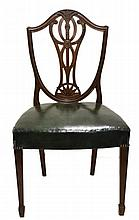 Set of 4 Hepplewhite Shield Back Chairs
