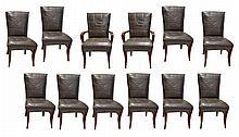 12 Dakota Jackson Designer Dining Room Chair Lot