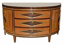 Demilune 3 Drawer Dresser