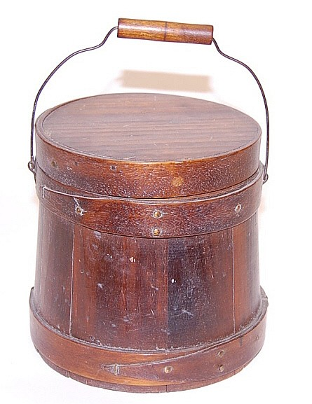 Small Wood Stave Bucket