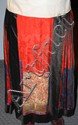 Chinese Qing Dynasty Red Silk Apron Skirt