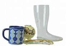Royal Copenhagen Mug, Glass Boot, Porcelain