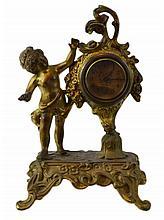 Gilt Spelter Figural Clock #5