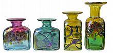 4 Robert Held Art Glass Lot RHAG