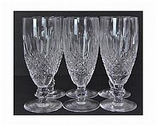 6 Waterford Crystal Flute Glass Lot Colleen