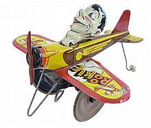 Vintage Marx Rookie Pilot Tin Wind Up Airplane