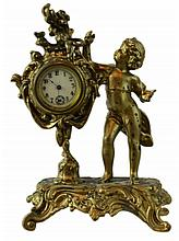 Gilt Spelter Figural Clock #4