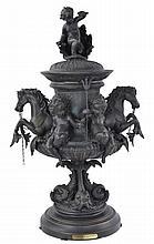 E. Picault (1833 - 1915) Chevaux Marins Bronze