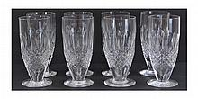 8 Waterford Crystal Lager Glass Lot Colleen