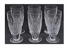6 Waterford Crystal Lager Glass Lot Colleen