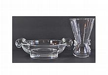 Vintage Steuben Signet Vase & Whimsy Bowl