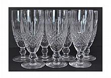 7 Waterford Crystal Flute Glass Lot Colleen