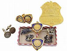 1953, 1969 & 1973 Inaugural Badge & Cuff Link Lot