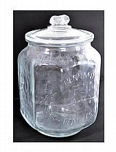 Mr Peanut Planters 5 cent Italian Glass Jar