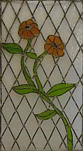 Vintage Floral Stained Glass Panel
