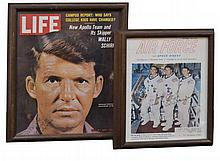 2 Pc. Wally Schirra Autographed Magazine Cover Lot