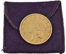 U.S. 1873-S $20 Liberty Head Gold Coin
