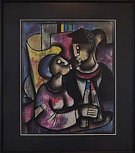 Peter Sibeko (né 1940) Abstract Pastel, Graduate