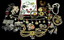 Vintage Costume Jewelry, Signed, Designer Pieces