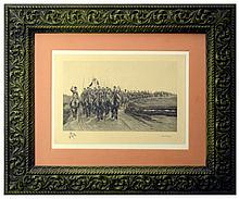 Edward Delaille Engraving Russian Calvary Regiment