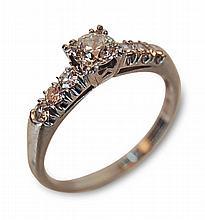 Lady's Vintage Platinum Diamond Ring