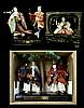 3 Pcs. Japanese Traditional Gofun Face Dolls