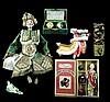 6 Pcs. Japanese Kabuki Puppet, Chinese Dragon Toy