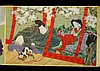 Japanese Meiji Period Erotic Shunga Scroll