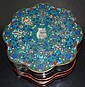 Chinese Cloisonné Enamel Box on Stand