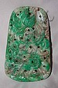 Large Antique Chinese Carved Nephrite Jade with Dragon & Phoenix