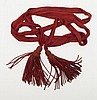 Civil War era maroon color dress sword sash and