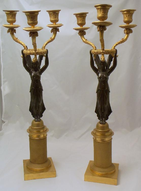 Brass Angel Candlesticks
